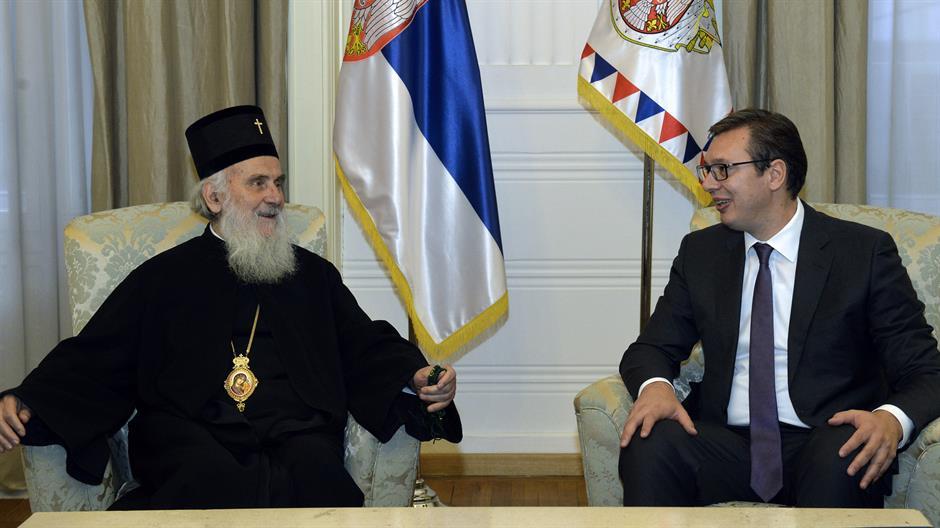 Predsednik Srbije obišao patrijarha na VMA