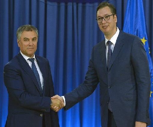 Vučić sa predsednikom Državne dume Ruske Federacije