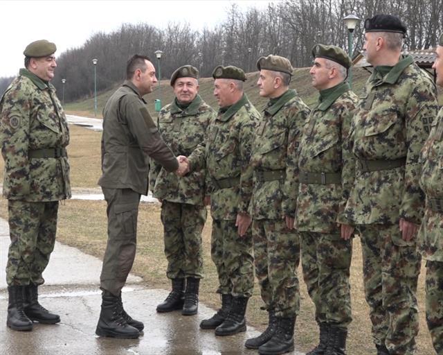 Vulin na promociji podoficira Vojske Srbije