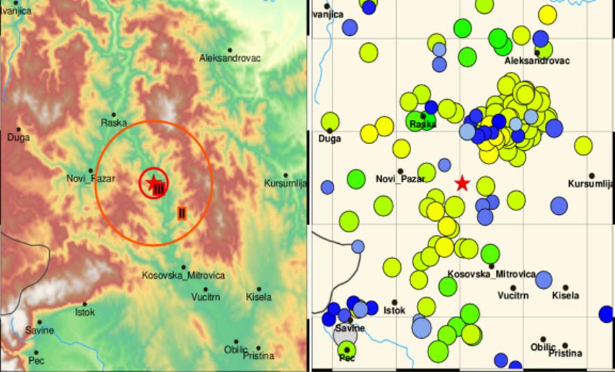 Zemljotres jačine 2,4 stepena zabeležen u regionu Leposavića