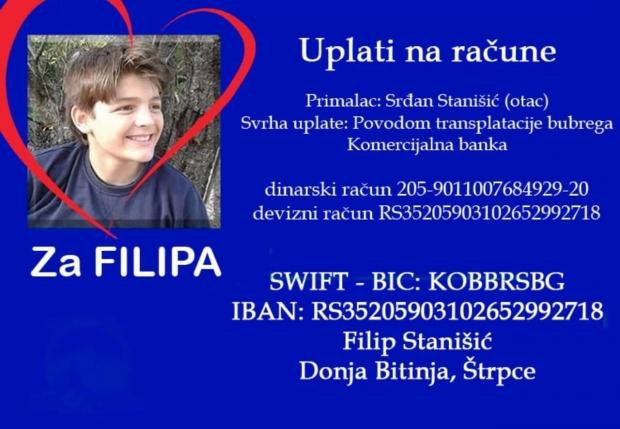 Filipu Stanišiću potrebna pomoć za operaciju transplantacije bubrega, pomozimo