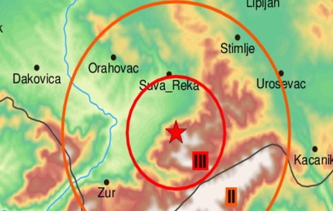 Zemljotres kod Prizrena