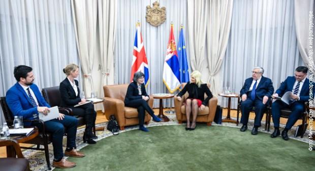 Mihajlovićeva sa britanskom ambasadorkom o Moravskom koridoru